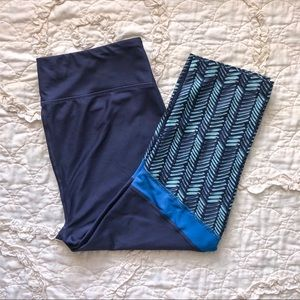 Under Armour Blue Cropped Leggings